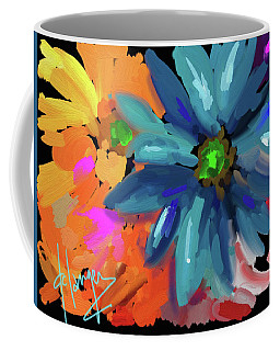 Big Blue Flower Coffee Mug