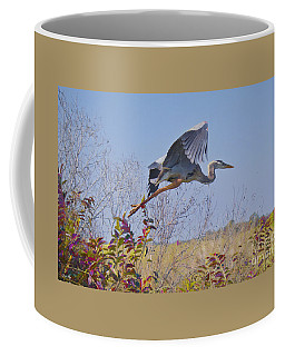 Coffee Mug featuring the painting Big Blue by Judy Kay