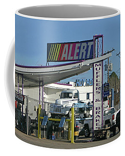 Coffee Mug featuring the photograph Big Boy Toy Repair by Jack Pumphrey