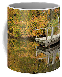 Big Brook Park Lake In Autumn Coffee Mug