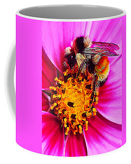 Big Bumble On Pink Coffee Mug