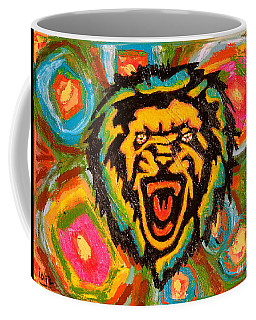 Big Cat Abstract Coffee Mug by Gerhardt Isringhaus