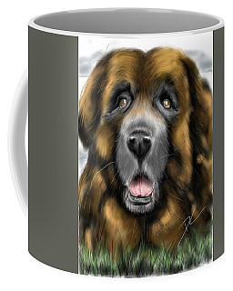 Coffee Mug featuring the digital art Big Dog by Darren Cannell