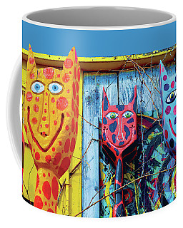 Big Eyed Spotted Kitties Coffee Mug