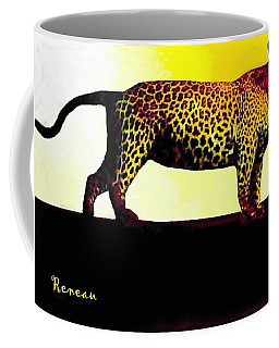 Big Game Africa - Leopard Coffee Mug by Sadie Reneau