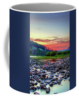 Big Hole River Sunset Coffee Mug