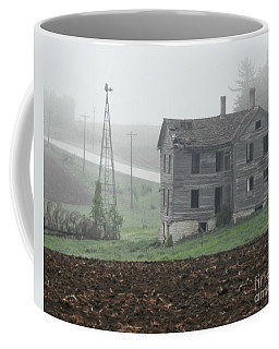 Big Old House In Fog Coffee Mug