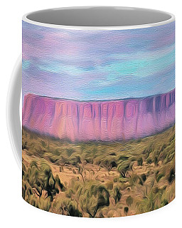 Big Pink Mesa Coffee Mug by Walter Colvin