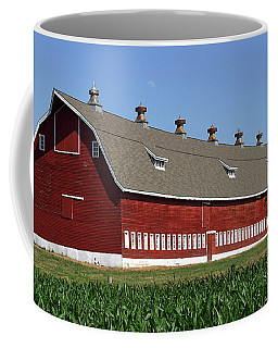 Big Red Barn In Spring Coffee Mug