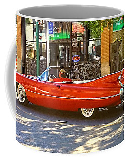 Big Red Cadillac Convertible Summer In The City Coffee Mug