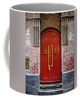 Coffee Mug featuring the photograph Big Red Doors by Perry Webster