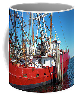 Coffee Mug featuring the photograph Big Red In Barnegat Bay by John Rizzuto