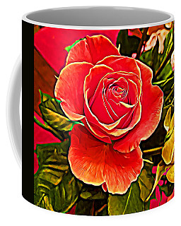 Big Red Rose Coffee Mug