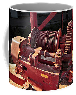 Coffee Mug featuring the photograph Big Red Winch by Stephen Mitchell