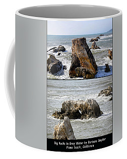 Coffee Mug featuring the photograph Big Rocks In Grey Water Duo by Barbara Snyder