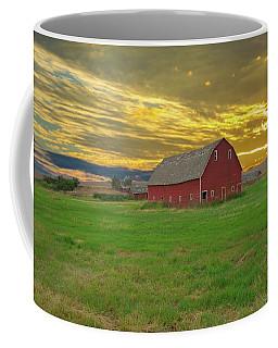 big sky country barn Montana Coffee Mug by Randall Branham