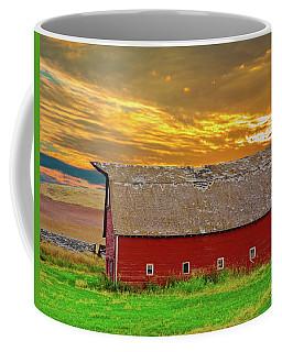 Coffee Mug featuring the photograph Big Sky Country Barn by Randall Branham