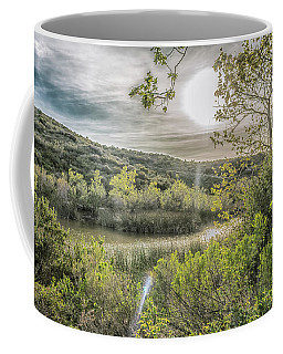 Coffee Mug featuring the photograph Big Sun by Alison Frank