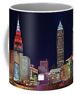Coffee Mug featuring the photograph Big Three In Cle by Frozen in Time Fine Art Photography