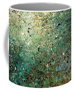 Coffee Mug featuring the painting Big Universe - Abstract Art by Carmen Guedez
