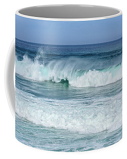 Coffee Mug featuring the photograph Big Waves by Marion McCristall