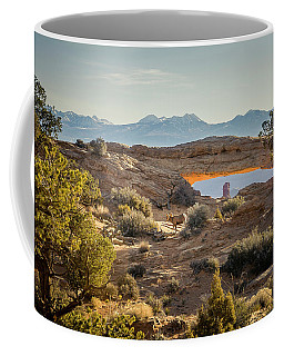 Bighorn Sheep And Mesa Arch Coffee Mug