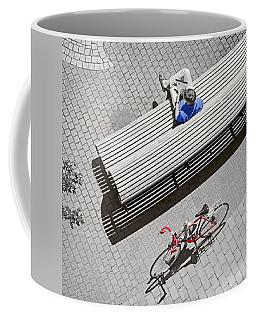 Bike Break Coffee Mug by Keith Armstrong