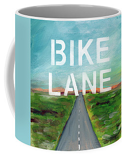 Bike Lane- Art By Linda Woods Coffee Mug