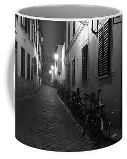 Bike Lined Alley Coffee Mug