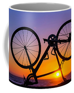 Bike On Seawall Coffee Mug