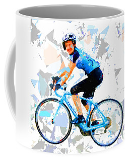 Coffee Mug featuring the painting Biker 1 by Movie Poster Prints