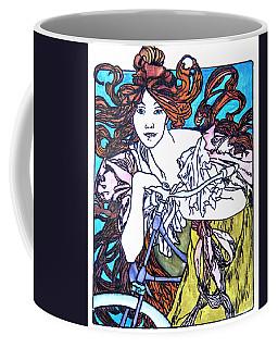 Biker Girl Coffee Mug