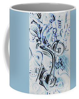 Bikes And Blue Cities Coffee Mug