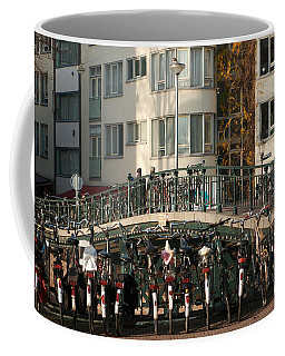 Bikes Bridge And Bird Coffee Mug