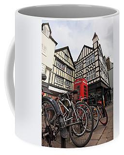 Coffee Mug featuring the photograph Bikes Galore In Cambridge by Gill Billington