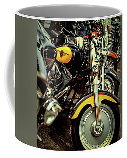 Coffee Mug featuring the photograph Bikes In A Row by Samuel M Purvis III