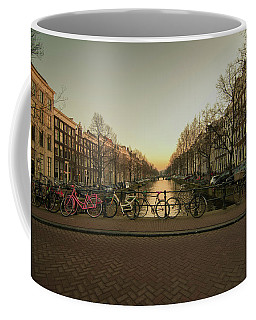 Bikes On The Canal Bridge Coffee Mug