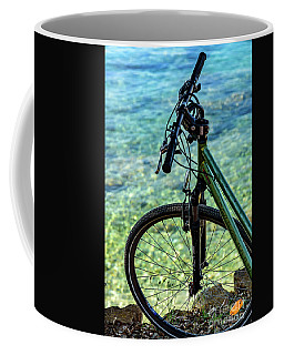 Biking The Rovinj Coastline - Rovinj, Istria, Croatia Coffee Mug