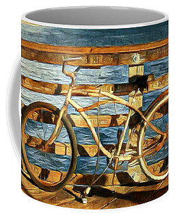 Biking To The Beach Coffee Mug