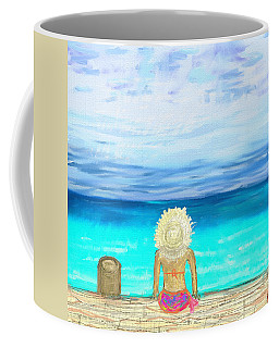 Bikini On The Pier Coffee Mug