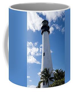 Bill Baggs Lighthouse Cape Florida State Park Palm Trees Coffee Mug