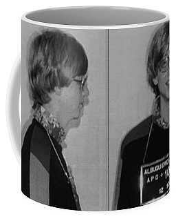 Bill Gates Mug Shot Horizontal Black And White Coffee Mug by Tony Rubino