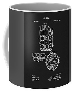 Coffee Mug featuring the mixed media Billiards Table Pocket Patent by Dan Sproul