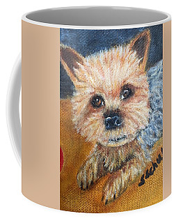Coffee Mug featuring the painting Billy by Sharon Schultz