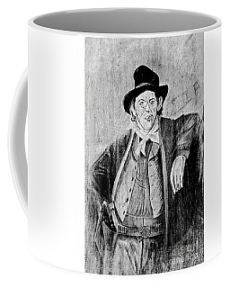 Billy The Kid Bw Coffee Mug by Bob Pardue