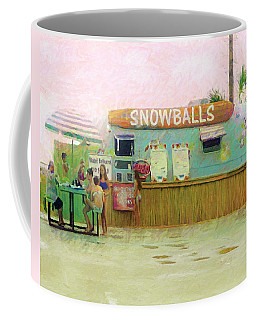 Biloxi Beach Snowball Stand Mississippi Gulf Coast Coffee Mug by Rebecca Korpita