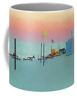 Biloxi Beach Sunset - Pastel In Paradise Coffee Mug by Rebecca Korpita
