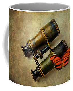 Binoculars And Butterfly Coffee Mug