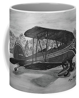 Biplane In Black And White Coffee Mug