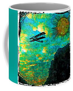 Coffee Mug featuring the digital art Biplane by Iowan Stone-Flowers